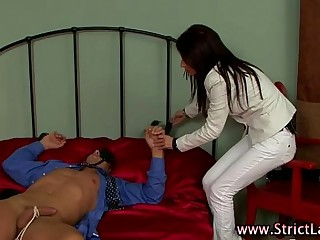 Nasty femdom bitch fucks