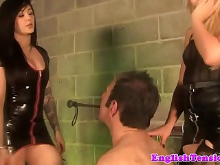 Young british femdoms degrade older sub
