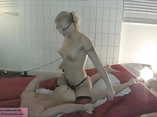 JC Simpson Fucks Her Boyfriend in the Ass with a Strap On