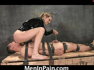 Mean Dominatrix gives lessons to worthless men!