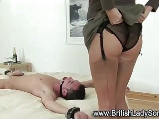 British femdom whore with dildo