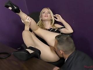Bitchy Secretary Turns the Boss into Her Slave - Kennedy Kressler