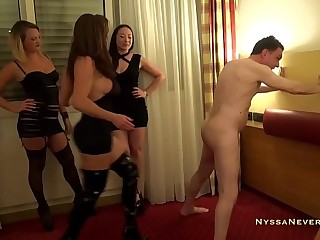 Ballbusted by 3 Mistresses