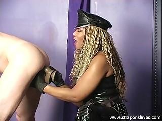 Ebony Trains Anal Slave