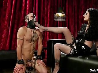 Busty goth mistress anal fucks dude