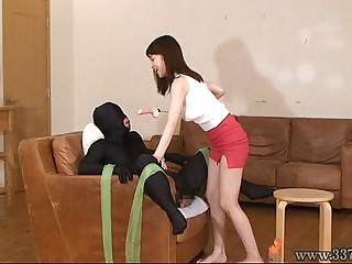 Japanese Femdom and a face strapon
