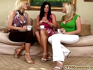 Cfnm femdom Holly Sampson sucking dick