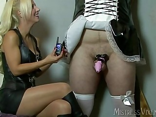 Mistress Vixen Chastity Maid and Electricity