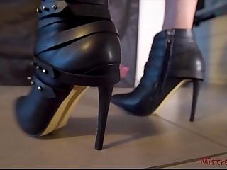 Mistress Boots with High Heels (POV) - Mistress Kym
