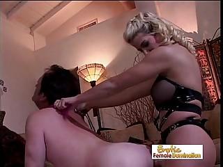 Mistress Sabrina Dominates Her Slave's Asshole
