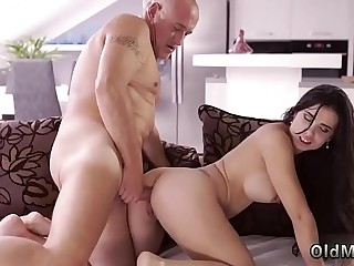 Step daddy gets and sweet old granny first time Mira and Bruno met at