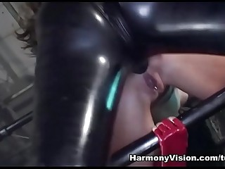 Cruel strapon mistress Jane fucks hard girl