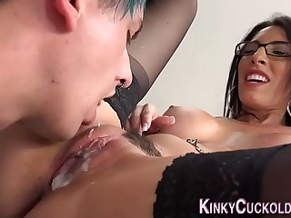 Mistress eaten by cuckold