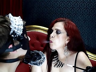 Mistress MelieFireRed with sissy maid