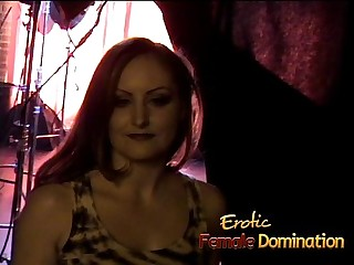 Horny brunette slut Mistress Gemini has some fun with raunchy studs