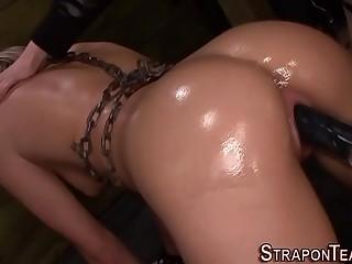Sadistic mistress strapon