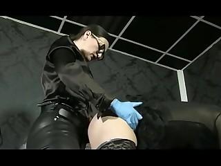 German Mistress strapon fucking slave #strapon