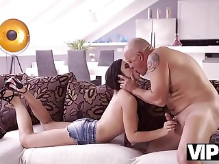 VIP4K. Mira Cuckold takes part in her first old and young sex