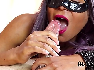 MissFluo - Multiple cumshots in open mouth A63