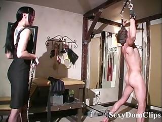 Sexy January Seraph gives a sensual hard whipping