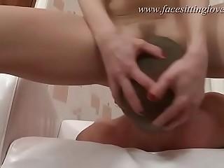Good facefuck facesit on slave