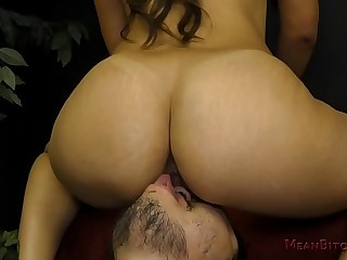 Mean Latina Girlfriend Makes Her SlaveBoy Worship Feet & Ass - Femdom
