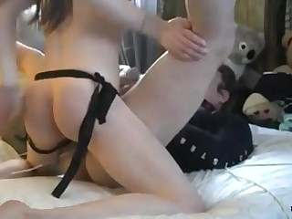 Femdom Kate with her sissy anal slave
