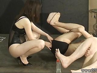 Japanese Femdom Honoka Strapon and Anal Dildo