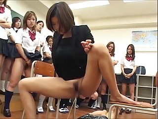 Japanese mistress ,teacher and student femdom piss