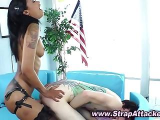 Sexy black mistress loves femdom