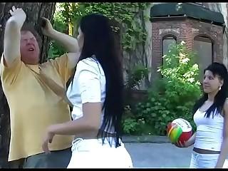 2 Amateur Girls in Femdom Action Outdoor in High Heels - Trampling, Footworship